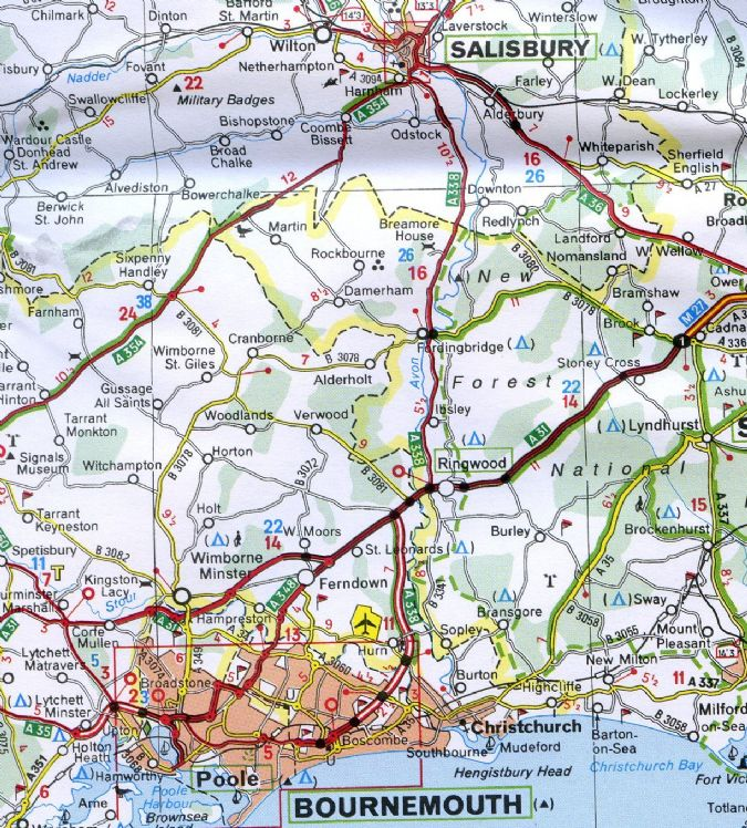 Michelin Map South East England The Midlands East Anglia - Michelin germany southwest map 545